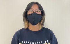 Adora Liu (12) in her UC Berkeley sweatshirt.