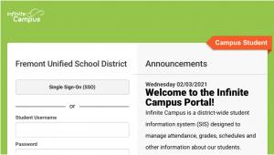 FUSD Infinite Campus Student Portal